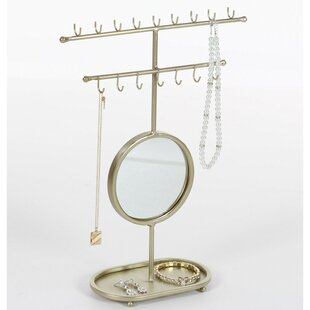 Great Price Golden Gleaming Mirror Jewelry Holder ByZipcode Design
