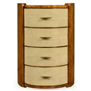 Oval 4 Drawer Nightstand