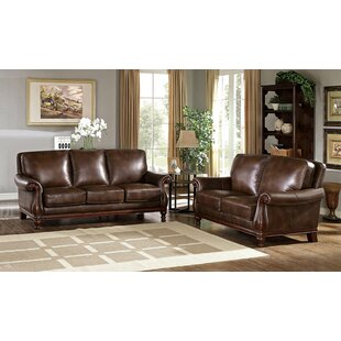 Fleur De Lis Living Autumn Leather 2 Piece Living Room Set