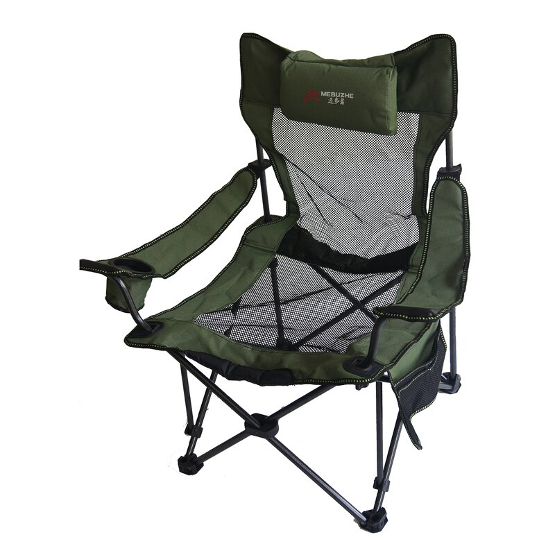 Portable Mesh Folding Camping Chair With Cushion