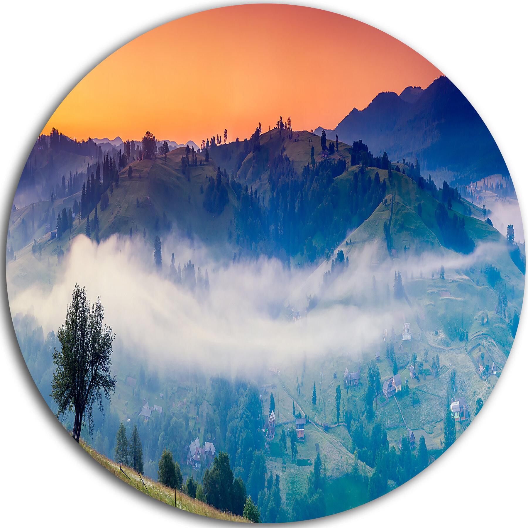 Designart Fantastic Blue Mountains Panorama Photographic Print On Metal Wayfair