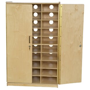 Tablet Charging 30 Compartment Classroom Cabinet with Doors by Wood Designs