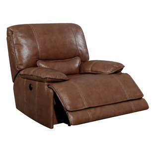 Dupree Leather Recliner by 17 Stories