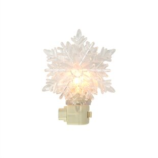 Compare prices Snowy Winter Decorative Snowflake Christmas Night Light By Sienna Lighting