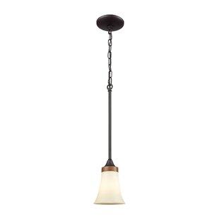 Millwood Pines Sapphire 1-Light Bell Pendant
