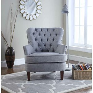 Brazell Nailhead Button Tufted Armchair