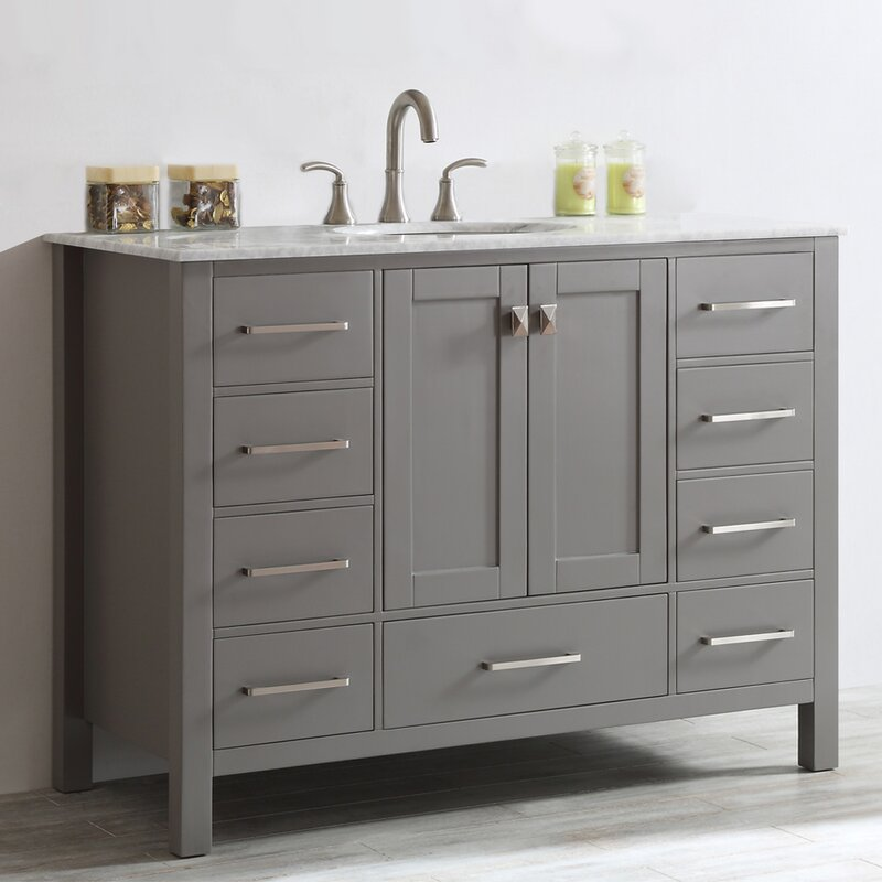 Beachcrest Home Newtown 48 Single Bathroom Vanity Set Reviews Wayfair