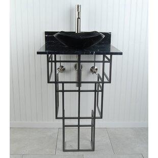 Order Mission Metal 22 Pedestal Bathroom Sink By D'Vontz