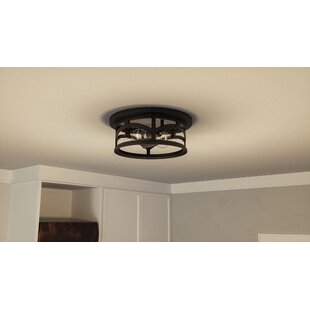 Inexpensive Sheppard 2-Light Outdoor Flush Mount By Longshore Tides