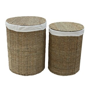 Round Wicker 2 Piece Laundry Set By August Grove