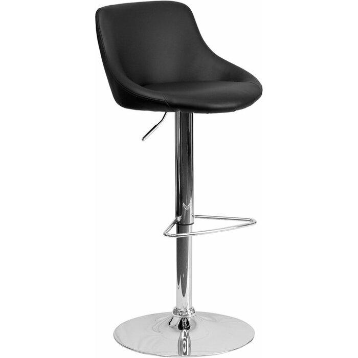 Terrific Crotty Low Back Adjustable Height Swivel Bar Stool Machost Co Dining Chair Design Ideas Machostcouk