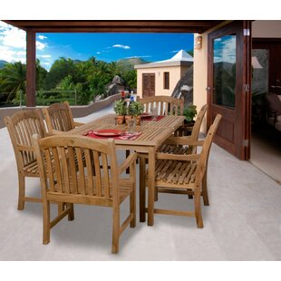 Elsmere 7 Piece Teak Dining Set By Beachcrest Home