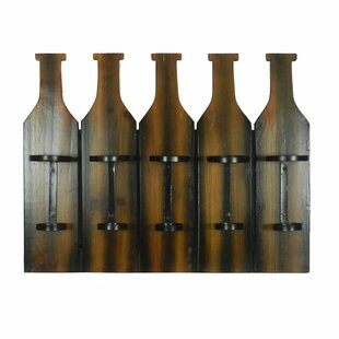 Chandeleur 5 Bottle Wall Mounted Wine Rac..