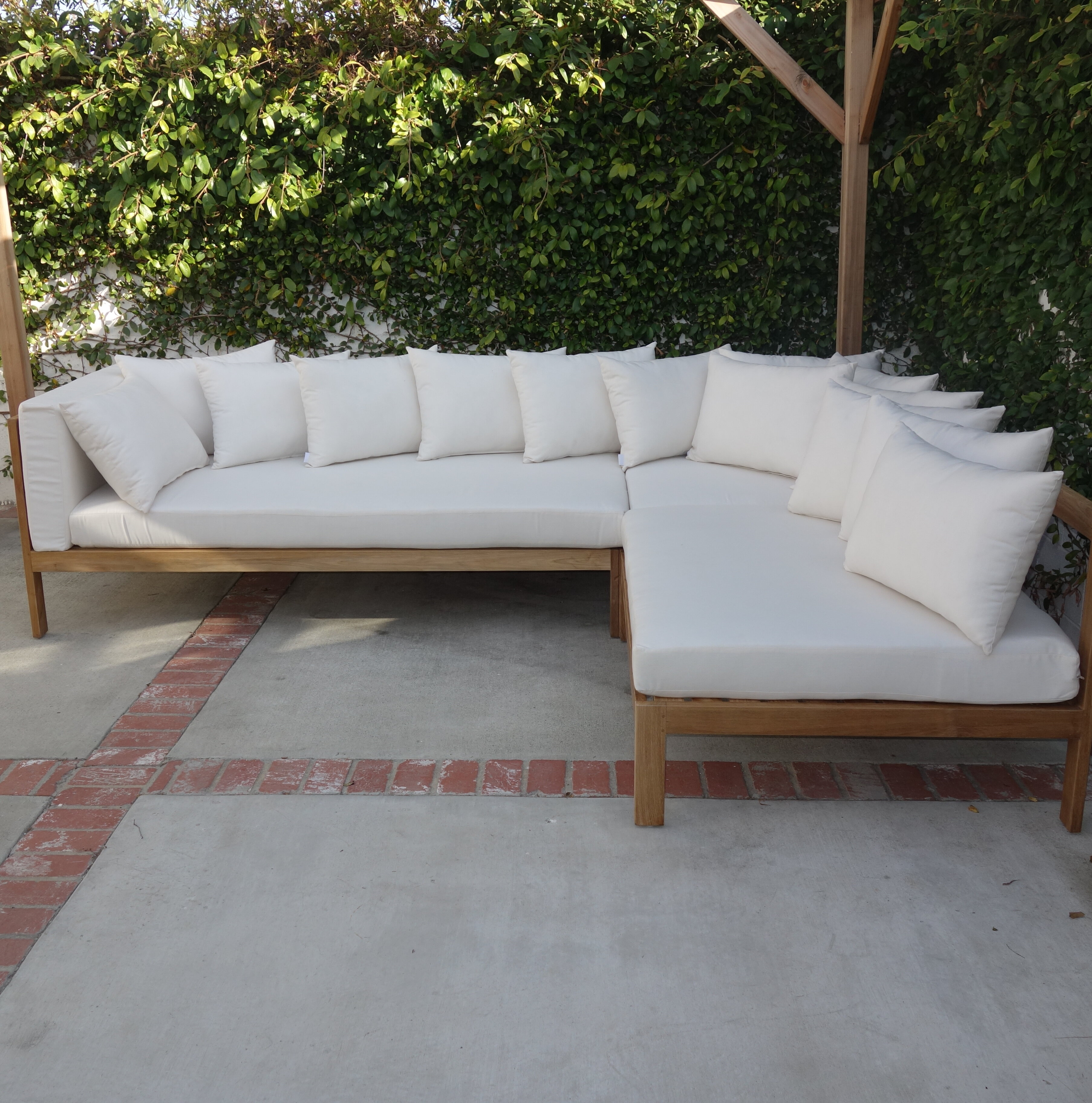 Jerrie Patio Sectional with Sunbrella Cushions