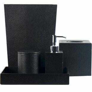 Trent Austin Design Bettine Genuine Leather 5 Piece Bathroom Accessory Set