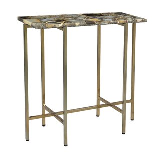 Berlin Agate End Table by Everly Quinn