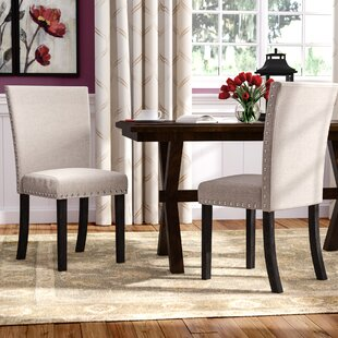 Claret Upholstered Dining Chair (Set of 2) (Set of 2) by Red Barrel Studio