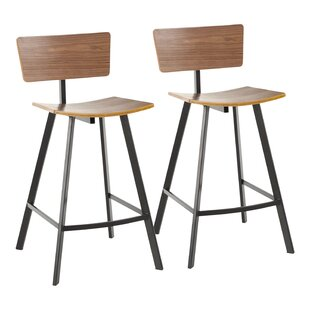 Spies 25 Bar Stool (Set of 2) by Gracie Oaks