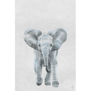 Elmer Here Goes the Elephant II Canvas Art by Viv   Rae