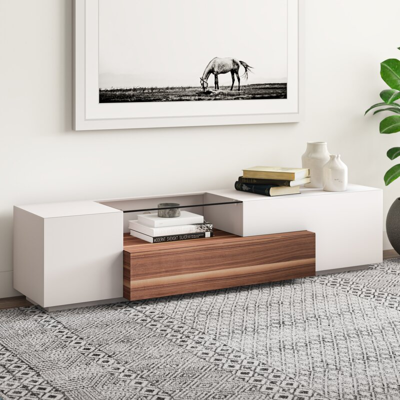 Allmodern Bellefonte Tv Stand For Tvs Up To 78 Reviews Wayfair