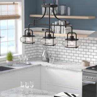 Beachcrest Home Braxton 3-Light Kitchen Island Pendant