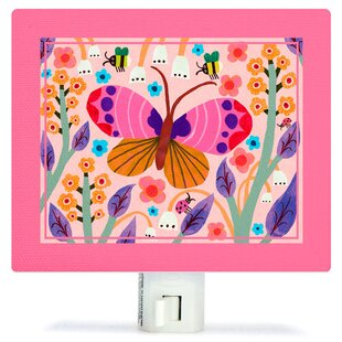 Oopsy Daisy Butterfly Field Canvas Night Light