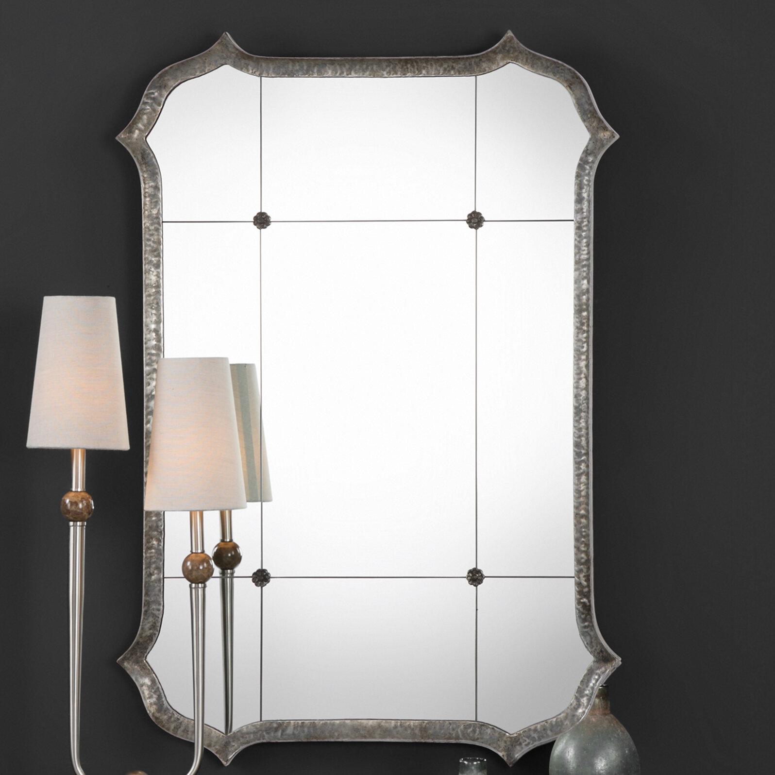 House Of Hampton Dex Lesina Hammered Modern Contemporary Accent Mirror Wayfair