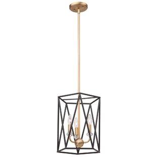Harmony 3-Light Geometric Chandelier by Artcraft Lighting