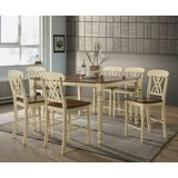 Jedidiah 7 Piece Counter Height Extendable Dining Set by Rosalind Wheeler