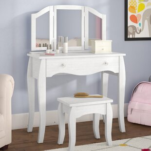 Malachi Bedroom Vanity Set with Mirror by Viv   Rae