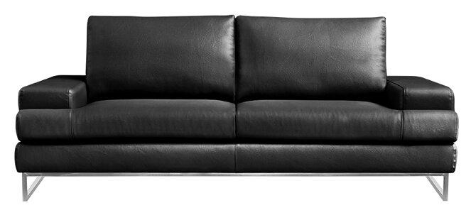 Wade Logan Angeline Leather Sofa & Reviews | Wayfair