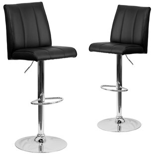 Norma Adjustable Height Swivel Bar Stool (Set of 2) Wrought Studio