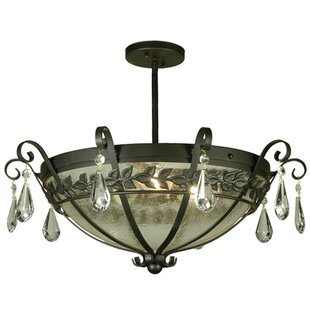 Meyda Tiffany Florentine with Crystals 3-Light Semi-Flush Mount