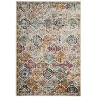 Grieve Power Loomed Synthetic Cream Area Rug by Bungalow Rose