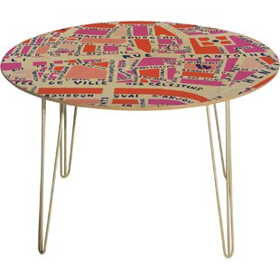 Holli Zollinger Paris Map Pink Dining Table by Deny Designs New Design