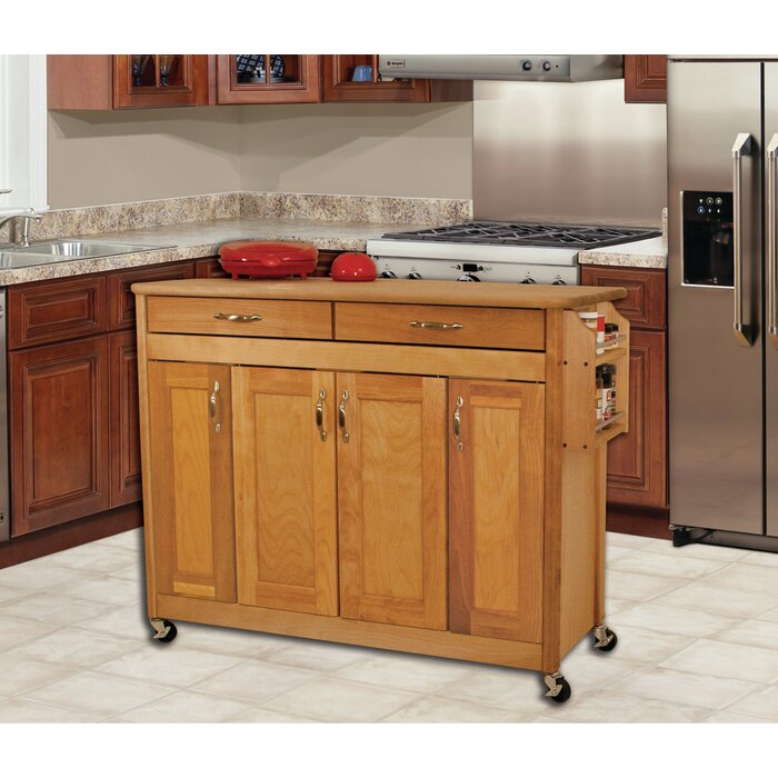 Caninenberg Kitchen Island with Butcher Block Top