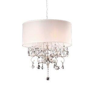 Ok lighting moiselle 3 light drum chandelier wayfair honiton 6 light drum chandelier aloadofball Gallery