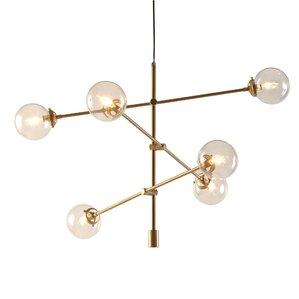 Ink ivy cyrus antique gold 6 light oversized bulbs sputnik cyrus antique gold 6 light oversized bulbs sputnik chandelier mozeypictures Image collections