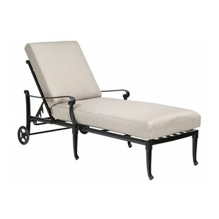 Woodard Wiltshire Reclining Chaise Lounge with Cushion