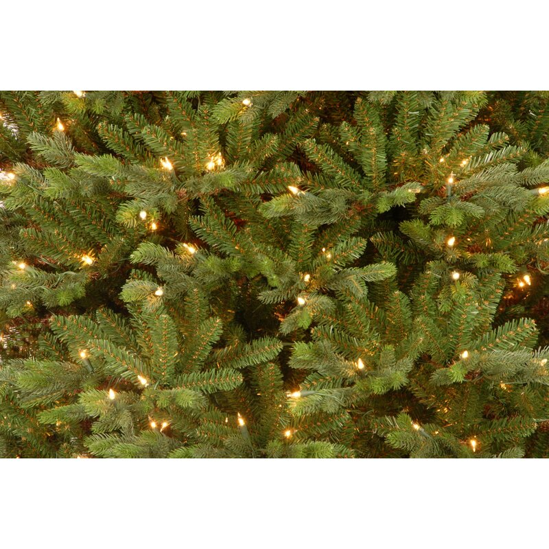 Pre Lit 7 5 Green Yukon Fir Artificial Christmas Tree With 750 Pre Lit Clear Lights With Stand
