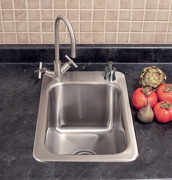 """A-Line by Advance Tabco 17"""" L x 15"""" W Drop-In Kitchen Sink"""