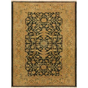 One Of A Kind Albali Antique Vintage Low Pile Hand Knotted Wool Brown Area Rug