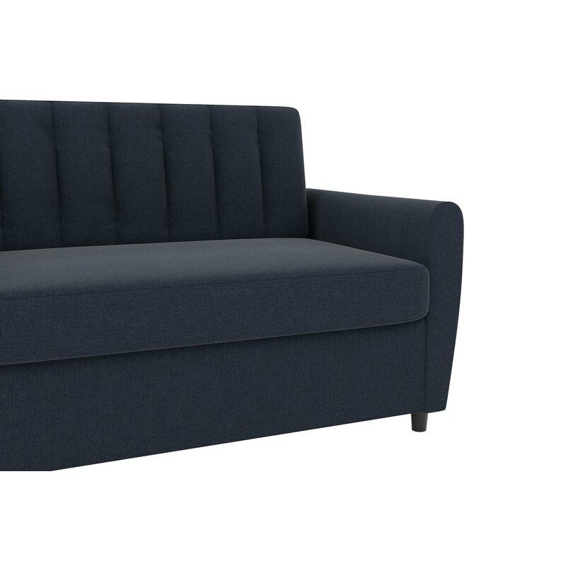 Novogratz Brittany 54 Round Arm Sleeper Sofa Bed Reviews Wayfair