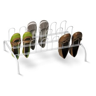 Comparison Floor 1-Tier 9 Pair Shoe Rack (Set of 2) By Rebrilliant