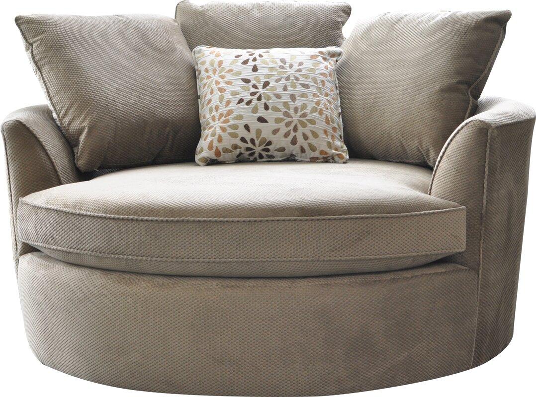 Red Barrel Studio Roquefort Cuddler Barrel Chair & Reviews | Wayfair