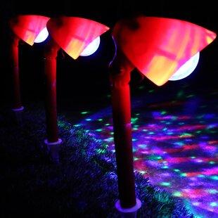 kaleidoscope christmas garden pathway light set of 3 - Led Christmas Pathway Lights