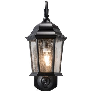 Hodgkins Security Camera Outdoor Wall Lantern