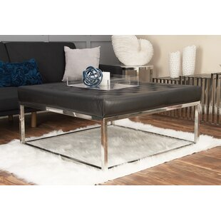 Stainless Steel and Leather Coffee Table Cole & Grey