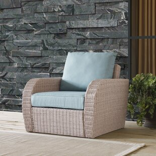 Boomer Wicker Patio Chair with Cushion