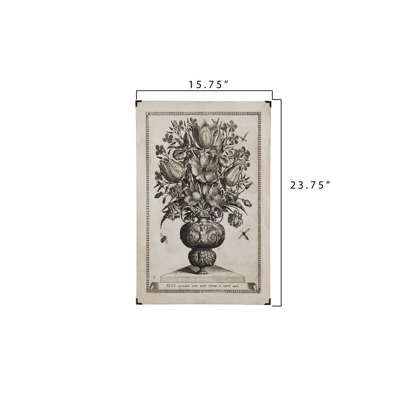 Charlton Home 4 Piece Reproduction Floral Image On Wood And Paper Set Wayfair